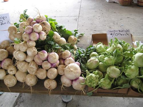 Turnips, Kohlarabi