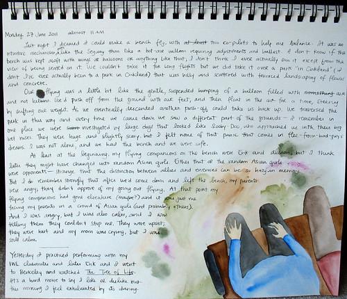 Illustrated journal, flying dream