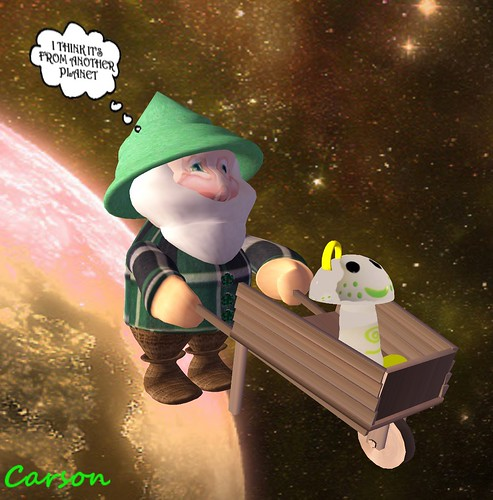 PIPPER'S PLACE -  IT'S FROM ANOTHER PLANET GARDEN GNOME