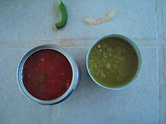 salsa and green chiles
