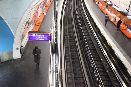 Inside the Paris subway