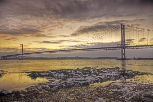 Forth Road Bridge Sunset