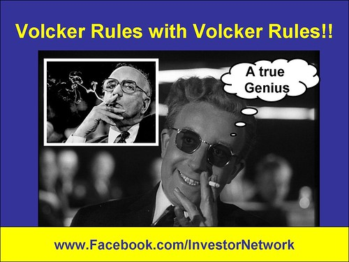CARTOON Volcker Rules with Volcker Rule