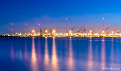 Port of Oakland water reflection