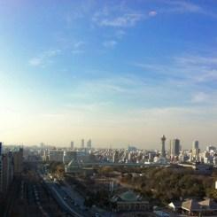 天王寺の街を見下ろす