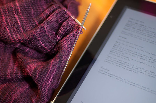 iPad knitting