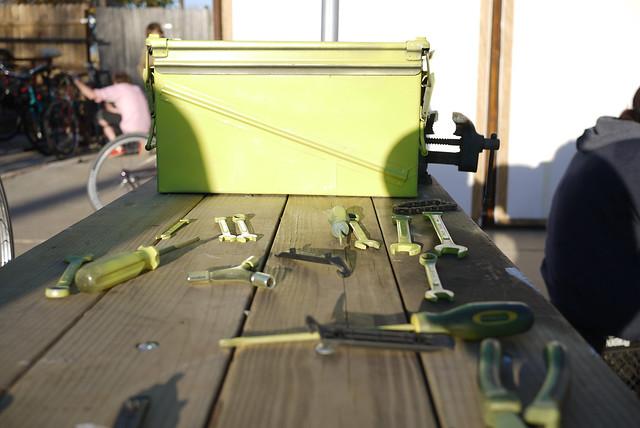 green Querencia tools