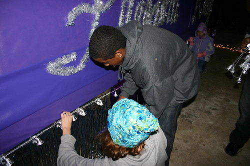 Relay for Life - Christmas Parade - Vicky and Terrance Hang Bells
