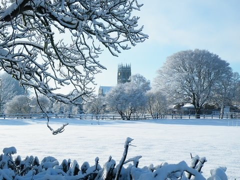 St Augustine's Snowy Scene Jim Uney