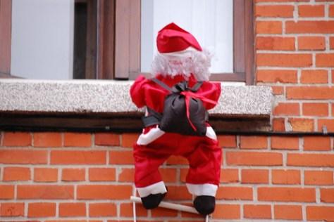 Santa hangs