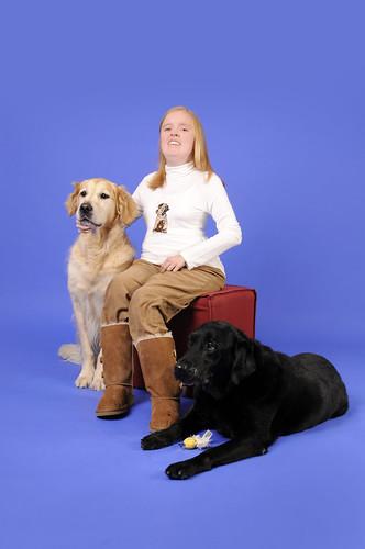 Daphné en haar honden