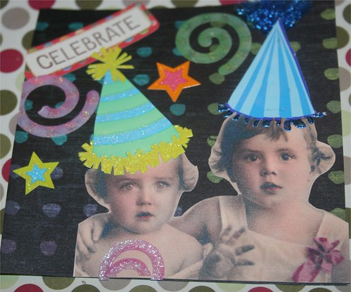 "Celebrate! 4"" x 4 "" Collage Card"