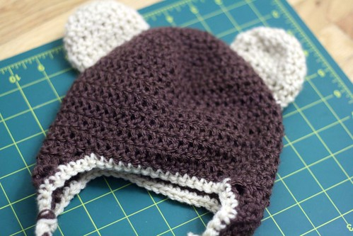 handmade 52.2 teddy bear hat!
