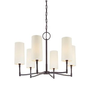 lighting, hudson valley, 366 dillon 6 light chandelier, in antique nickel, $650 lighting universe