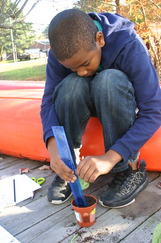 Tyrek's Science Fair 2010 - Measuing Plants