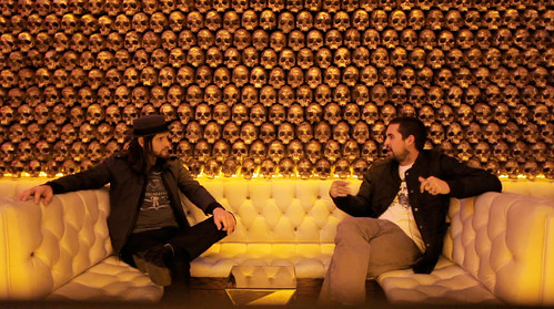 Still shot from Tuesdays Live Free Podcast interview with Joshua Zimmerman at a Secret Speak Easy in Downtown San Diego.