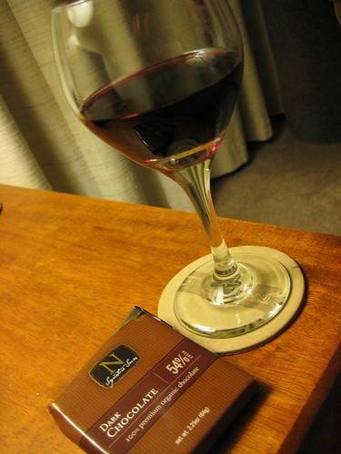 Newman's Own Organics Dark Chocolate, red wine