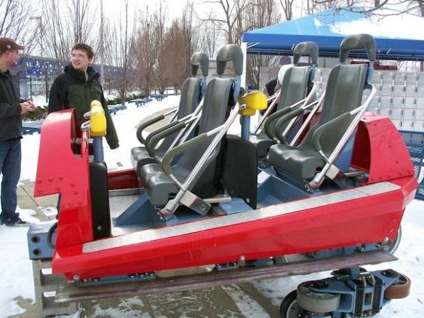 Cedar Point - Off-Season Millennium Force Car