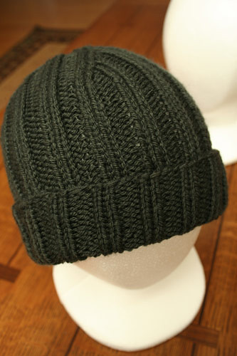 Hat 2 - Gray 2x2 rib