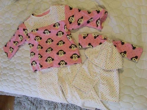Matching Monkey PJs