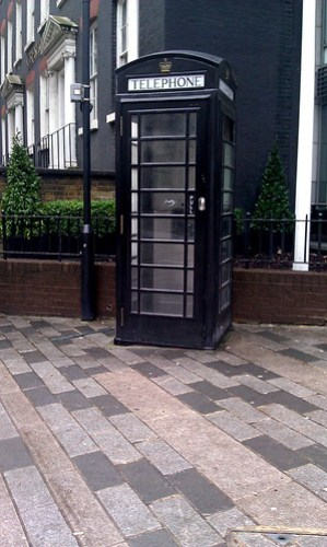 Goth Telephone Box.