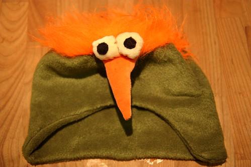 Niilo's crazy bird hat