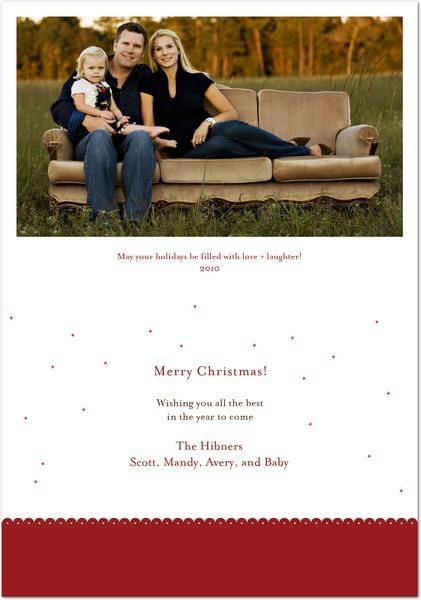 Holiday Card 2010 Inside