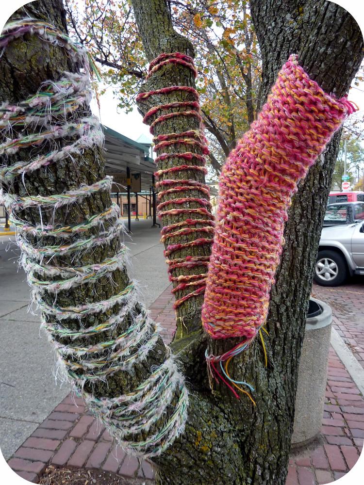 knit bomb!