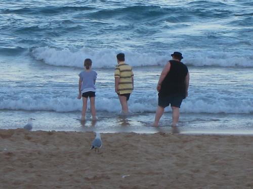Risking wet pants legs, or in Tom's case a wet bum