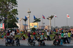 Zondagmiddag in Phnom: relaxen langs de rivier