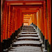 Steps at Fushimi Inari Shrine, Kyoto