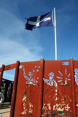 Eureka Flag and sculpture