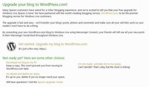 Upgrade your blog to WordPress.com!