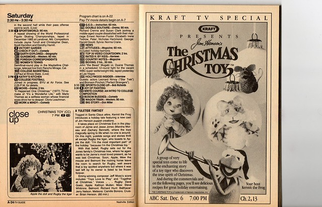 TV Guide Kraft TV Special Recipe Collection, (A Christmas Toy) 1986