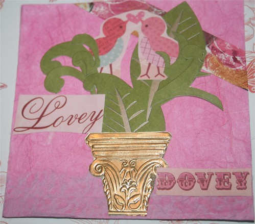 "Lovey Dovey 4"" x 4"" Collage Card"