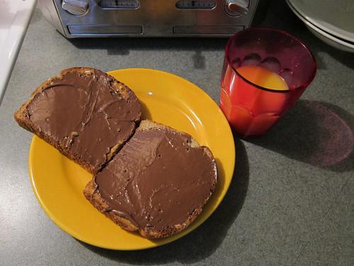 Nutella Toast & Orange Juice