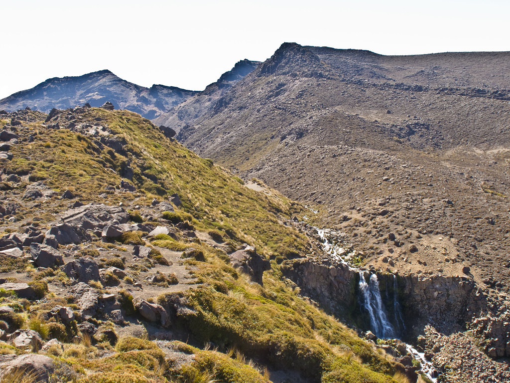 The waterfall near the Otorere Hut