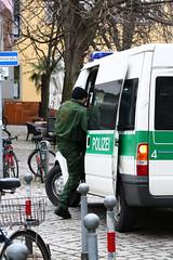 Razzia in der besetzten Gartenstraße 19 am 24....