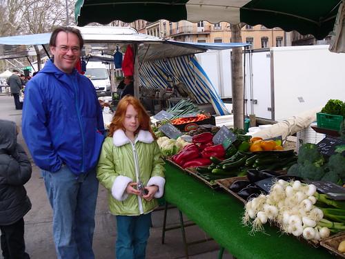 Mark and Sagan at the market