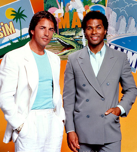 Miami Vice Postcard Pose TV Show