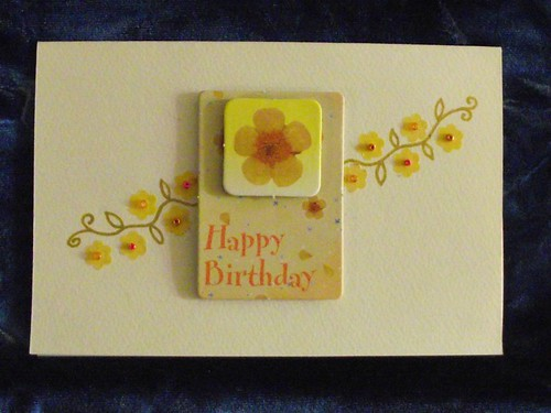 Yellow Flower Birthday Oneoff