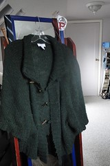 Ann Taylor Loft Winter 2009 ; green poncho sweater