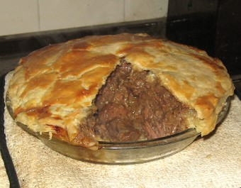 beef beer and stilton pie