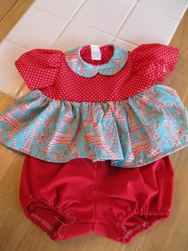 """20"""" doll clothes: shirt/panties close up"""