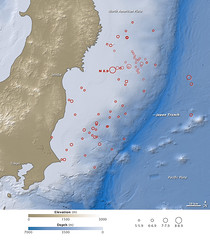 Earthquake and Tsunami near Sendai, Japan