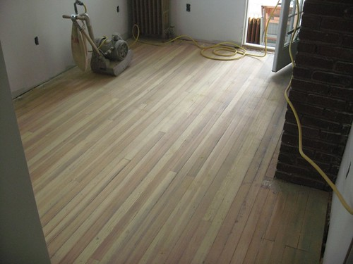 The entire floor done with 36 grit
