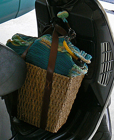 Bag on scooter
