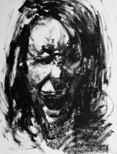 Self-Portrait Gesture Drawing