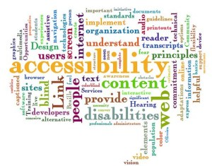 """web accessibility word cloud"" di Jil Wright"