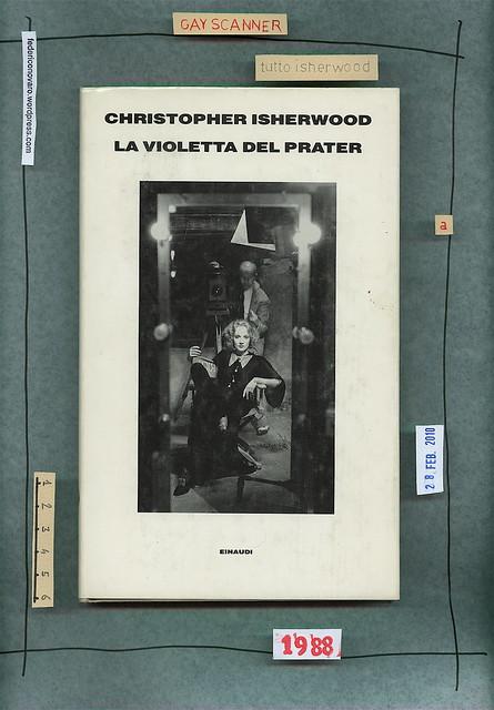 Christopher Isherwood, La violetta del Prater. Einaudi 1988. Copertina